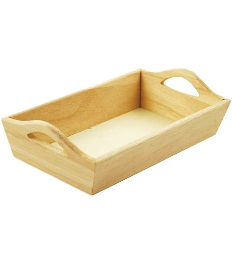 Paintable Wooden Tray Whandles Joann