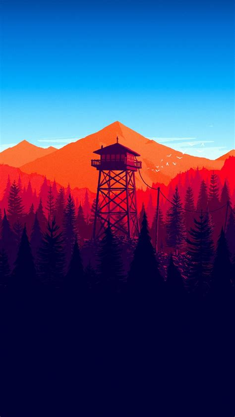Download 1080x1920 Firewatch, Forest, Landscape, In-game