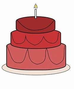 Red Birthday Cake Clipart - Clipart Suggest