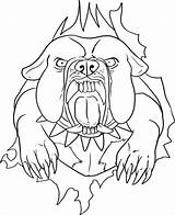 Coloring Bulldog Cabin Log Tattoo Outline Graffiti Characters Funny Paper Sheets Vicious Bakground Tearing Dog Prints Draw Cool Template Tattooimages sketch template