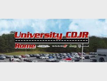 university chrysler dodge jeep ram rome dealership