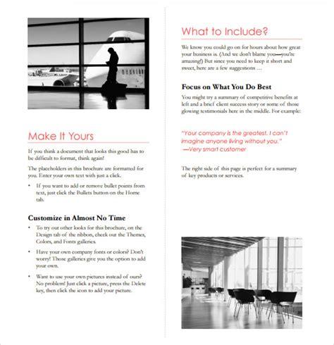 Microsoft Brochure Templates by Sle Microsoft Brochure 6 Documents In Word