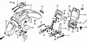 Honda Motorcycle 1984 Oem Parts Diagram For Rear Fender