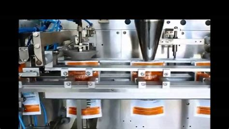 horizontal preformed pouch filling sealing packing system  liquid powder packer bagging