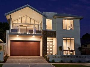 pics for gt modern house with balcony With exterior house lighting australia