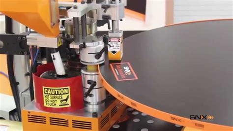snx nvision contour edge bander edging   laminate tabletop youtube
