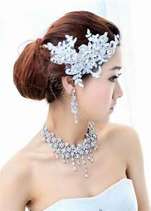 Buy Wholesale Wedding Bride Jewelry Crystal Lace Simple