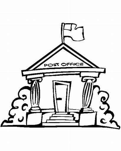Clipart Office Building Awam Kemudahan Pos Pejabat