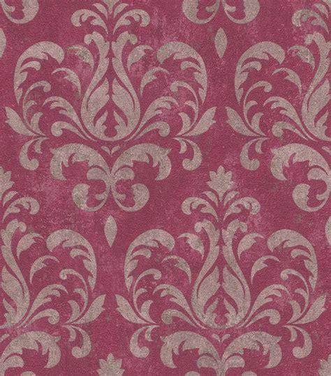 tapete rot grau tapete ornamente klassisch rasch lucera rot grau 608533