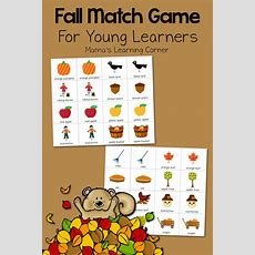Printable Fall Match Game  Mamas Learning Corner