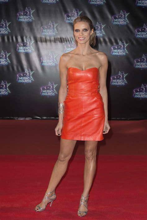 sylvie tellier  nrj  awards leather celebrities