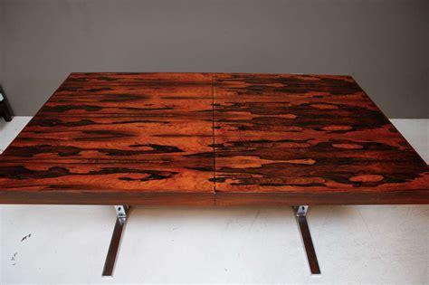 rosewood  chrome dining table  hidden leaf  georg