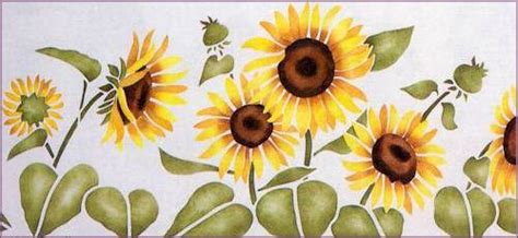 sunflower stencil yowler shepps stencils