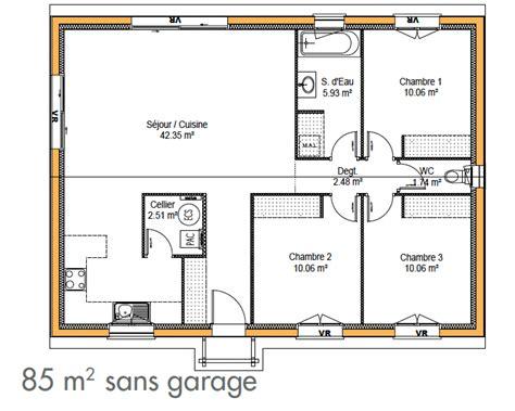 plan maison 2 chambres cuisine construction de maison simple immo construction