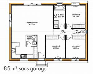 charmant plan maison moderne 4 chambres ravizhcom With maison de 100m2 plan 15 modale de construction traditionnelle de 90m2 de plain