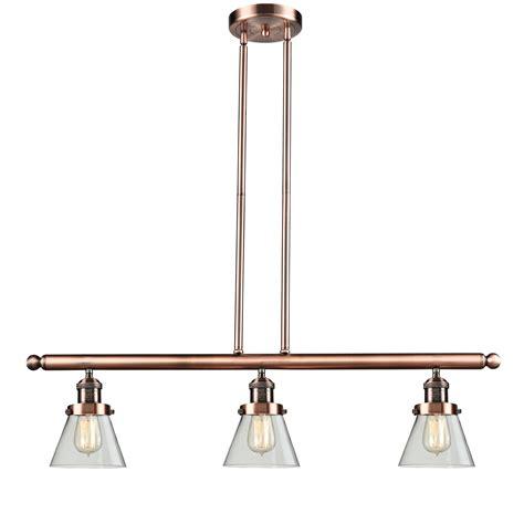 pendant light kitchen island innovations lighting glass cone 3 light kitchen island pendant reviews wayfair