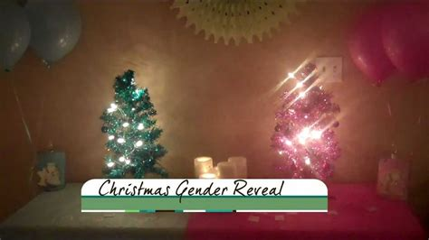 Our Christmas Gender Reveal  Youtube