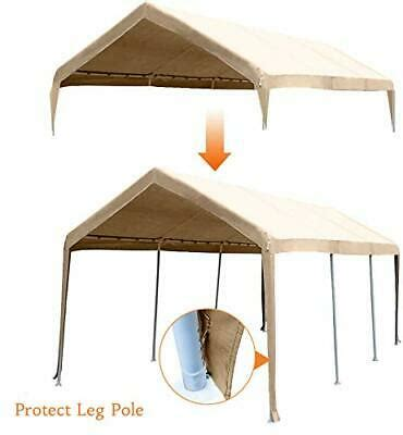 abba patio    feet carport replacement top canopy cover   beige  ebay
