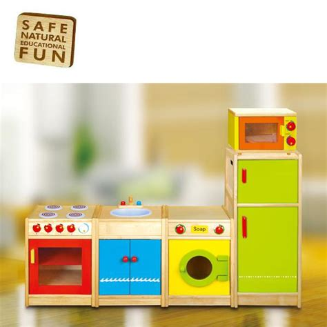 wooden washing sink taps pretend play kitchen wood toy play set ebay