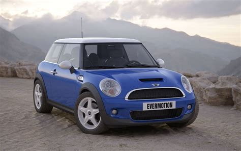 Blue Car Mini Cooper S 3d Model