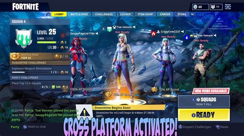 crossplay  ps xbox  pc  fortnite youtube