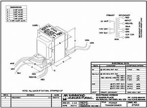 Hammond Transformer C1f005wes Wiring Diagram