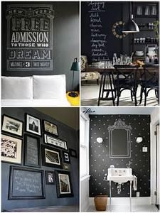 Grande Ardoise Murale : le blackboard devient chalkboard decoration peinture tableau noir et tableau ~ Preciouscoupons.com Idées de Décoration