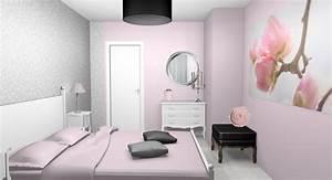 emejing chambre adulte beige et rose poudre gallery With peinture mur de chambre