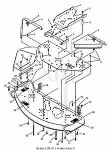 32 Wheel Horse Mower Deck Parts Diagram