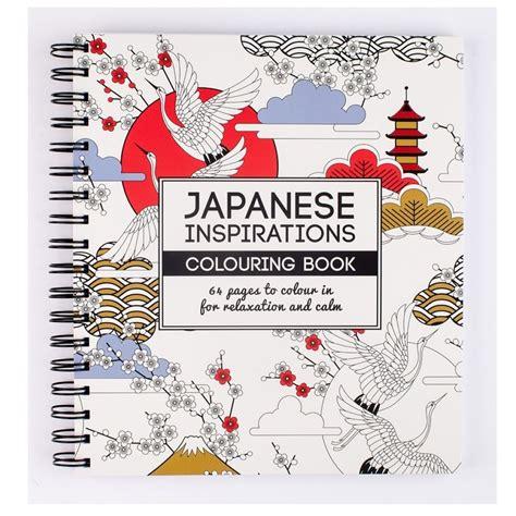japanese coloring book japanese inspirations colouring book craftyarts co uk
