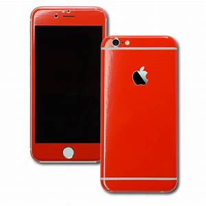 iPhone 6 GLOSSY Bright RED Skin / Wrap