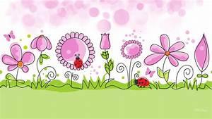 HD Flower Garden Spring Vector Free Desktop Background ...