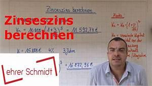Zinseszins Berechnen : zinseszins berechnen zinsrechnung mathematik youtube ~ Themetempest.com Abrechnung