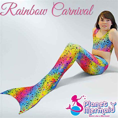 uk swimmable mermaid tail costume  rainbow carnival