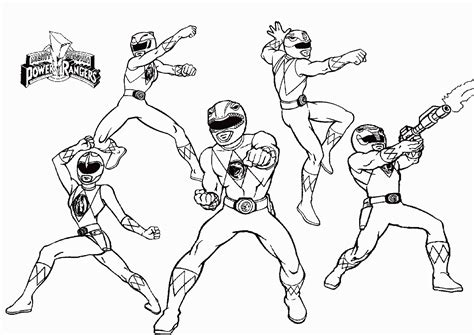Mighty Morphin Power Rangers Coloring Pages For Free