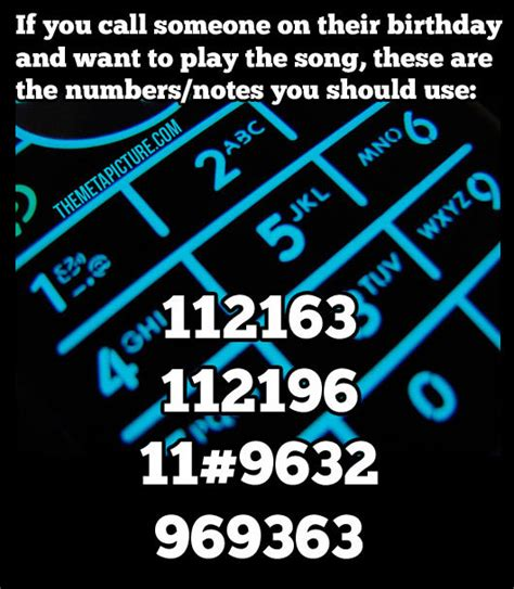 phone number song how to play happy birthday using your phone s number pad