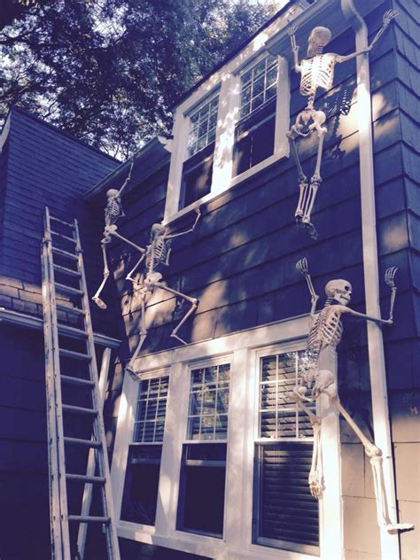 skeletons climbing house halloween props skeletons climbing the house creative ads and more