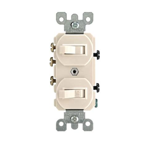 leviton 15 3 way combination switch light