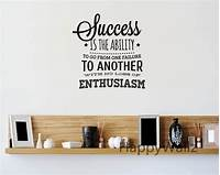 inspiring nfl wall decals Success Motivational Quote Wall Sticker Enthusiasm Quote Wall Decal DIY Decorative Inspirational ...