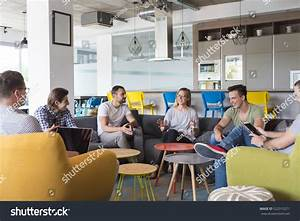 Young People Group Modern Office Have Stock Photo ...