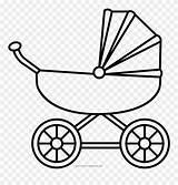 Coloring Stroller Carriage Pram Popular Bebe Clipartkey Coloringhome Valentine sketch template
