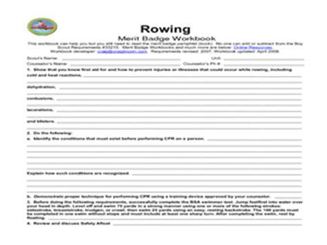 rowing merit badge 5th 12th grade worksheet lesson planet