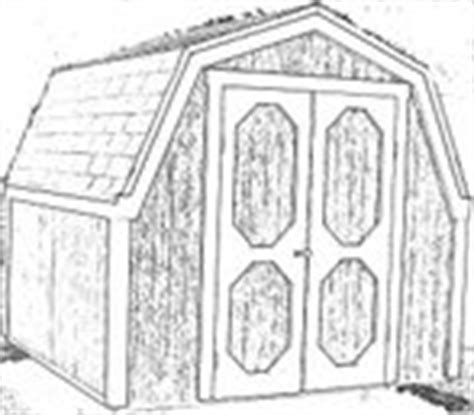Gambrel Shed Plans 8x8 by How To Build A Storage Shed