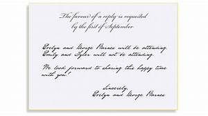rsvp etiquette traditional favour of a reply filled out With wedding invitation etiquette rsvp email