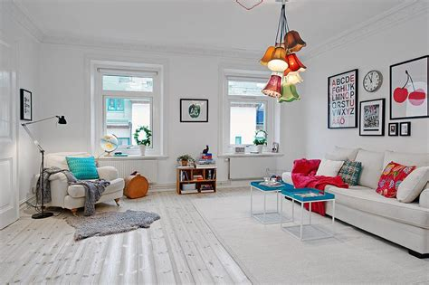 3 Beautiful Scandinavian Style Interiors : Beautiful Scandinavian Apartment With Cheerful Decor And