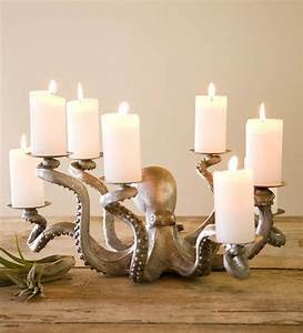 Octopus, Candle, Holder