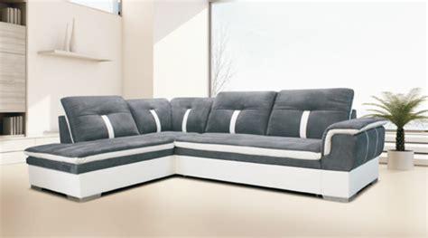 canapé blanc gris canape d 39 angle à gauche convertible galaxia blanc gris