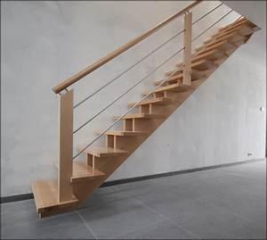 Escalier Droit Bois : mev sprl rampes bois et inox ~ Premium-room.com Idées de Décoration