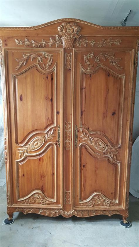 Large Clothing Armoire by Beautiful Vintage Wardrobe Armoire Large Wardrobe Dresser