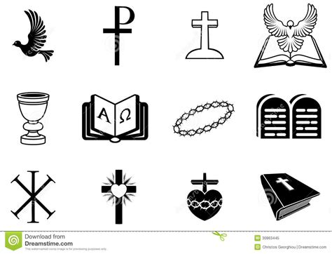 christian religious signs  symbols stock vector image
